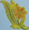 Аппликация цветок ZV25-7 (желтый) Цена за 10шт.