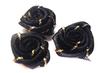 Розочки атласные 1-34-3 (черный) Цена за 20 шт