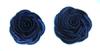 Цветы пришивные NF100H30-12 (темно синий) Цена за 10 шт