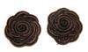 Цветы пришивные NF100H30-30 (шоколадный) Цена за 10 шт