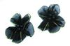 Цветы пришивные КЦ011-3 (темно синий) Цена за 10 шт