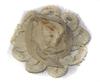 Цветы пришивные CPS02-24 (бежевый) Цена за 10 шт