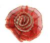 Цветы пришивные КЦ308-4 (красный) Цена за 10 шт