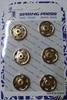 Кнопки пришивные KPM2-41 (золото)