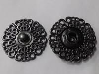 Кнопки декоративные KPDM3-86 (гематит)