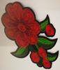 Аппликации цветы AK526-4 (красный) Цена за 20 шт