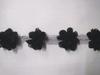 Тесьма с цветами FLOWS1-3 (черный)