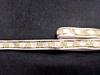Тесьма с пайетками декоративная TDP3-41-1-8Y (белый с золотом)