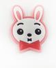Аппликации пришивные заяц АК243-34 (розовый) Цена за 4 шт