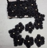 Кружево гипюр 94121820-3 (черный) Цена за 7,3 метра