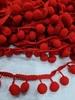 Тесьма с помпонами TPOMPK1,8sm-4-20y (красный)